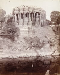 Mandapa of the Surya Temple, Modhera, from the tank